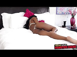 Smoking hot ebony teen Nadia Jay destroyed by black monster
