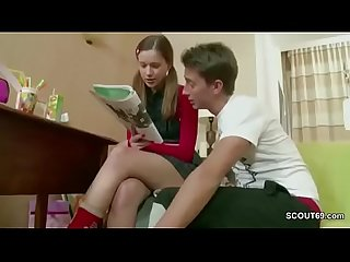 Brother show step sister how get pregnant after Homework