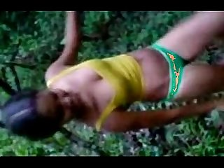 Indian hot teen strip in forest for her bf leopard69puma