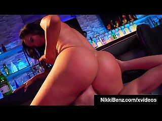 Big Boobed Lesbians Nikki Benz & Abigail Mac Tongue Fuck!