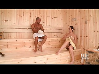 Curvy sauna slut gets her big ass hammered like never before!