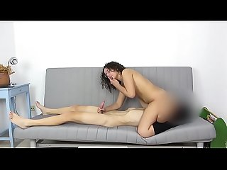 I wanna be a porn model! Lily gets eaten while swallowing a dick