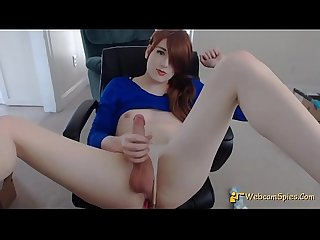 Angel American Amateur Shemale - SelfSuck - 1009F - HD WebcamSpies.Com