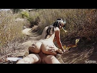 Aimee Black gets her moist pussy fucked in the dry desert