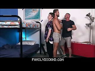 Twink Step Brother And Jock Step Brother Threesome With Step Dad