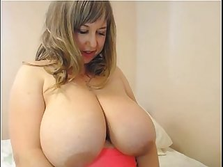 Webcam mommy with huge boobs rubbing pussy & asshole - more mature sluts on CAMSBARN.COM