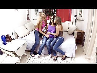Excited threesome by sapphic erotica sensual lesbian sex scene with misha and
