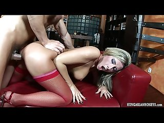 Busty babe banged hard and riding cock
