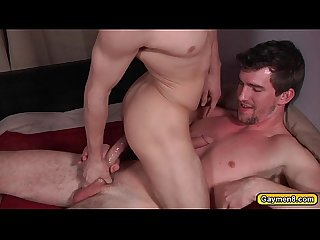 Bryans anal gets drilled by johnnys dick