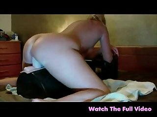 Creamy carmel rides sybian jumbo cock