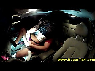 Eurosex babe hardcore Pussyfucking in a taxi