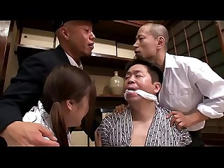 Japanese schoolgirl tied fucked hard by older man gangbanged by his captors
