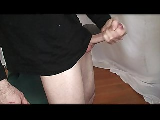 Morning big cock masturbation session solo male