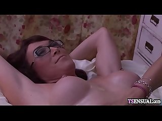 Massage Shemales hard dick anal fucks a shemale client
