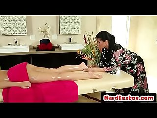 Babe massaged by lesbian masseuse romi rain shana lane