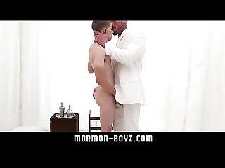 Hard boner twink licked sucked and fucked by big dick hot daddy MORMON-BOYZ.COM