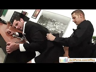 Office cock gay gays fucked in the office video08