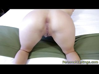Tattooed amateur pussyfucked to get casted