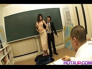 Suzuki chao asian babe gets hairy pussy pounded while giving a blowjob