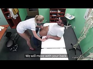 Hot blonde nurse fucks repairman