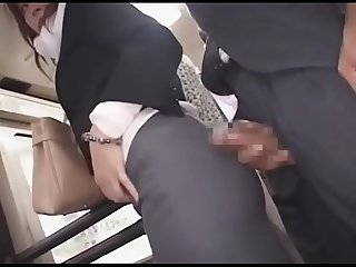 Asian japanese milf being sexually harassed on a Bus pt2 on hdmilfcam com