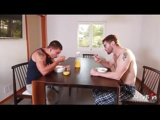 Bearded redhead dad and muscle son flip fuck - Pornhub.com