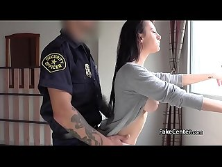 Fake cop in uniform fucks horny babe