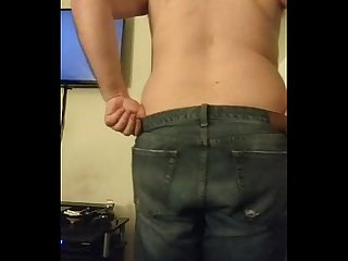 Gordo safado se exibindo e tirando a roupa