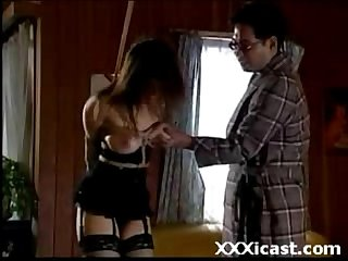 Asian stocking bound spanking
