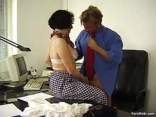 Granny office fucking