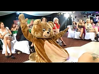 Bachelorette parties dancing bear