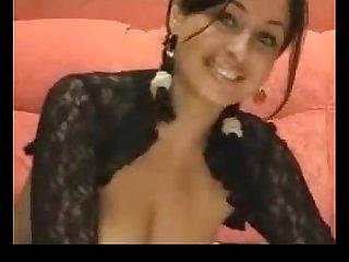 Hot brunette gives A Webcam Show