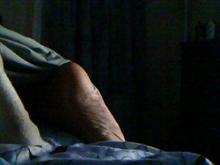 Sleeping ebony foot worship