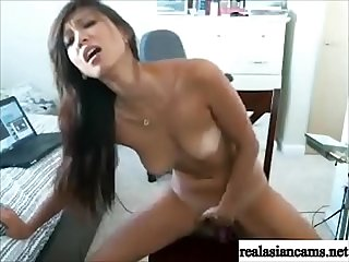 Sexy cam girl rides her toy realasiancams period Net