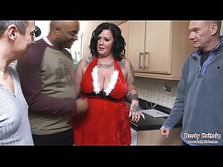 Busty slut warms carol singers