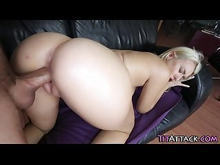 Huge rack ho rides cock