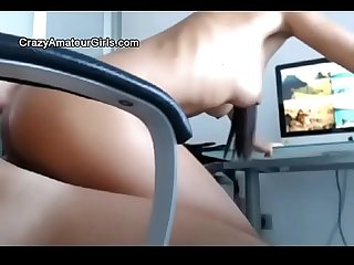Secretary spy cam amateur