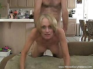Stepson gives creampie to mom