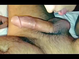 Indian chick licking cock