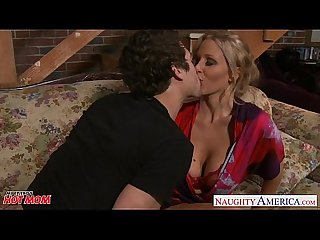 Beauty mom Julia Ann gets big tits jizzed
