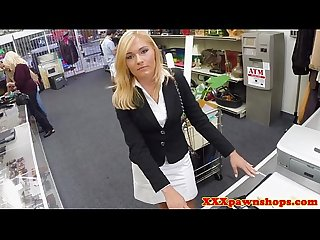 Mature pawnshop milf wants a cash deal