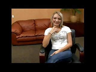Cute blonde sex interview