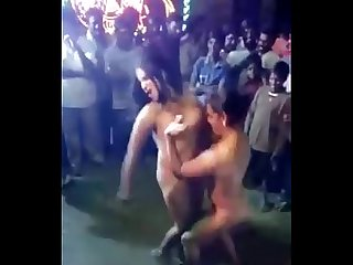 Desi girls open nude dance in public
