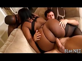 Tiny blonde MILF slut fucked hard interracial by big black dick