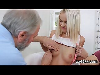 Physician assists with hymen examination and virginity loss of virgin kitten