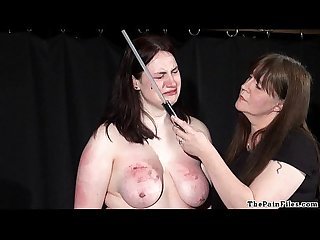 Brutal lesbian bdsm and extreme spanking of bbw amateur slavegirl Alyss