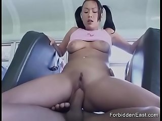 Wild Fuck Session For Horny Asian Teen On Public Bus