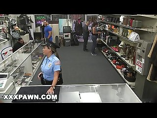 XXX PAWN - Pervy Pawn Shop Owner Fucks Latin Police Officer
