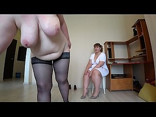 Milf came to the reception to the nurse and got an orgasm from fisting a bbw doggystyle shakes beaut
