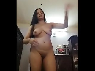 Beautiful indian babe getting naked
